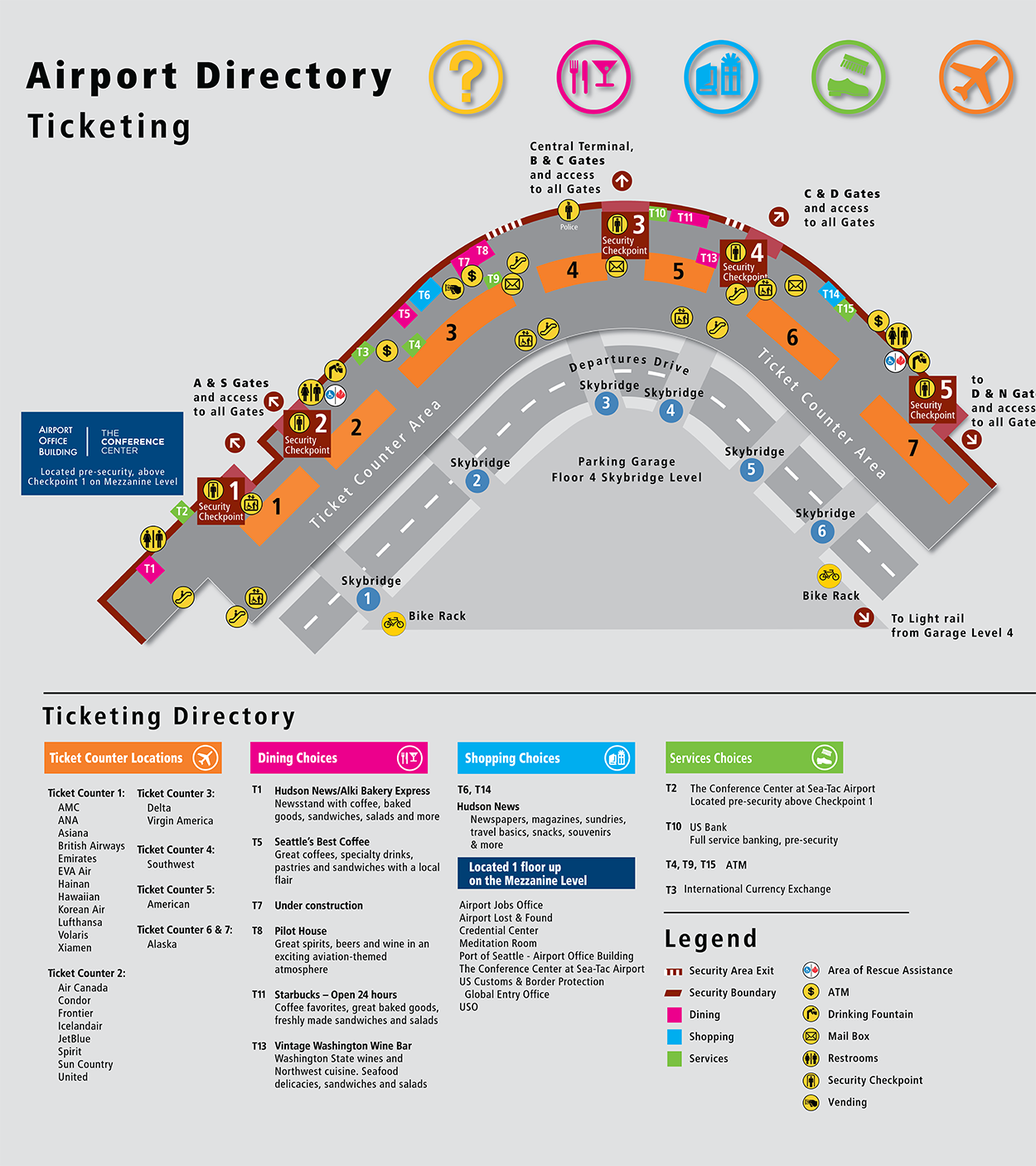 Seatac Airport Map HARMONY 2017   Travel Information | COMBINE Seatac Airport Map